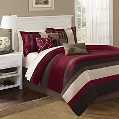 Madison Park Boulder Stripe 7 pc Comforter Set