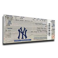 New York Yankees Derek Jeter 3,000th Hit Canvas Mega Ticket