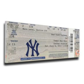 New York Yankees Derek Jeter 3,000th Hit Canvas Mega Ticket
