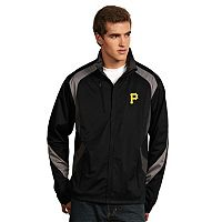 Men's Antigua Pittsburgh Pirates Tempest Desert Dry Xtra-Lite Performance Jacket
