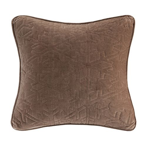 Madison Park 20'' x 20'' Snowflake Quilted Velvet Throw Pillow