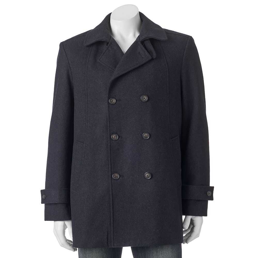 Billy London Slim-Fit Double-Breasted 33-in. Wool-Blend Short Peacoat