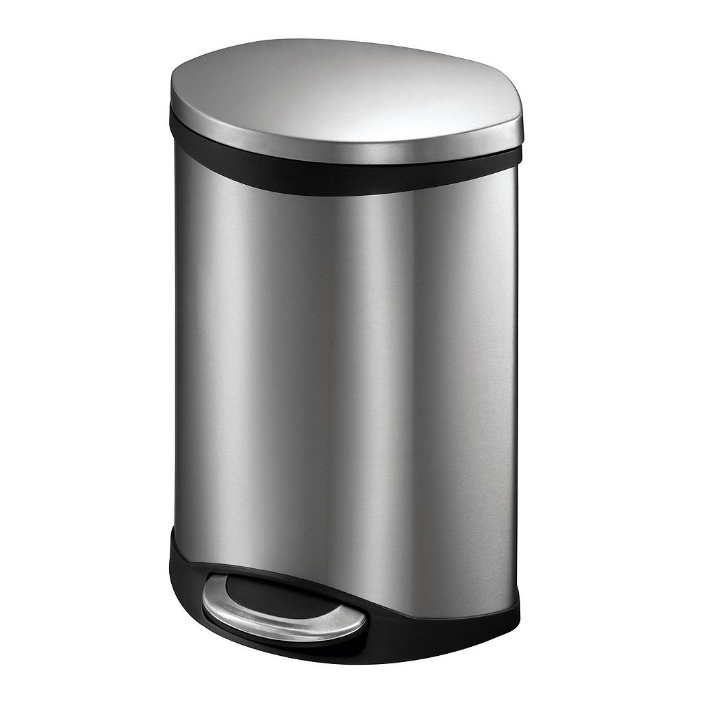 EKO Shell 6-Liter Hands-Free Trash Can