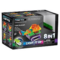 Laser Pegs 8-in-1 Tank Runners Light-Up Construction Set