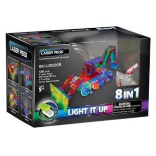 Laser Pegs 8-in-1 Bulldozer Light-Up Construction Set