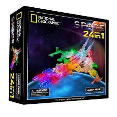 National Geographic 24-in-1 Space Light-Up Construction Set by Laser Pegs by