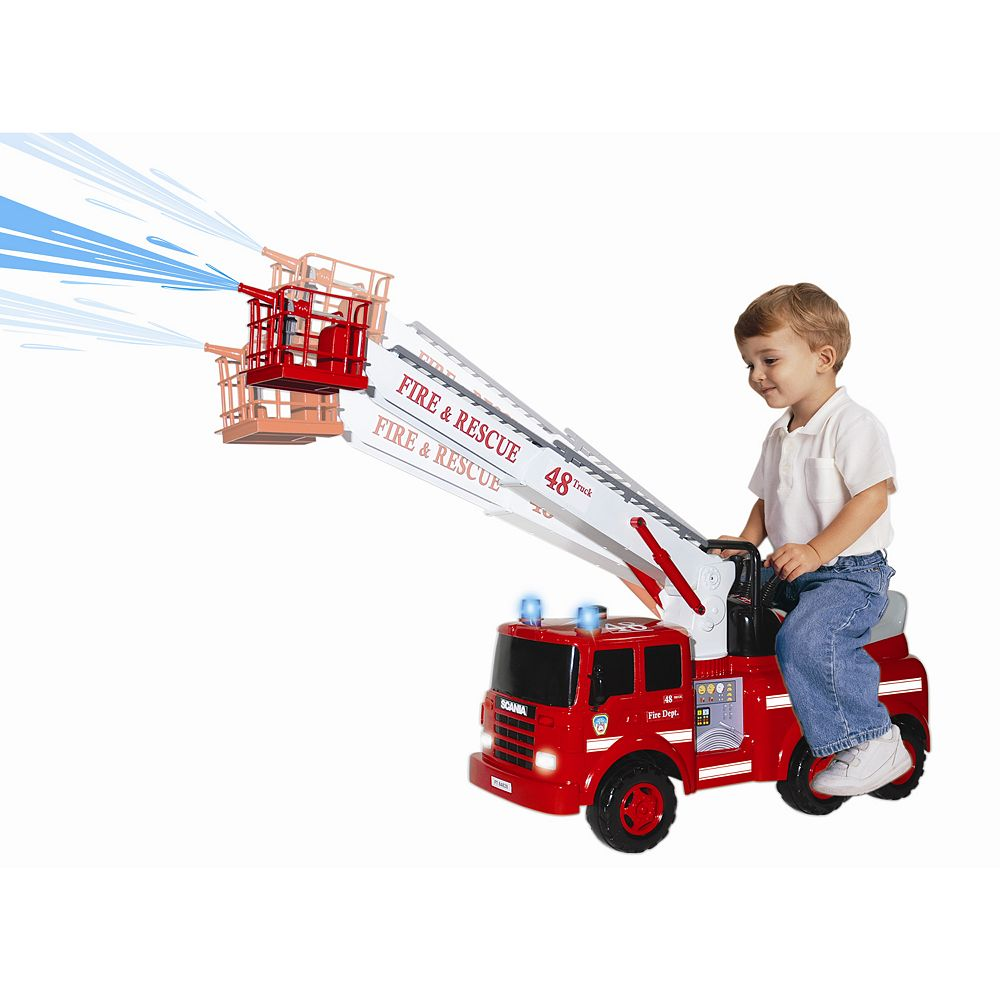 Ride-On Action Fire Engine