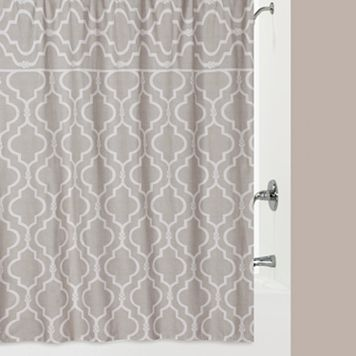 Jennifer Adams Chainlink Fabric Shower Curtain