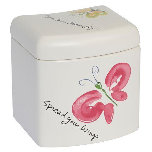 Kathy Davis Flutterby Covered Jar