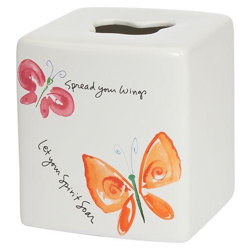 Kathy Davis Flutterby Tissue Box Cover