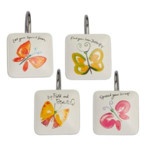 Kathy Davis Flutterby 12-pk. Shower Curtain Hooks