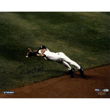 Steiner Sports New York Yankees Derek Jeter Diving for Ball 8'' x 10'' Signed Photo