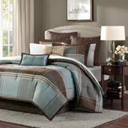 Madison Park Davenport 8 pc Plaid Comforter Set