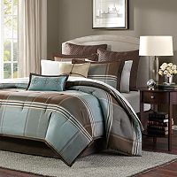 Madison Park Davenport 8 pc Plaid Comforter Set