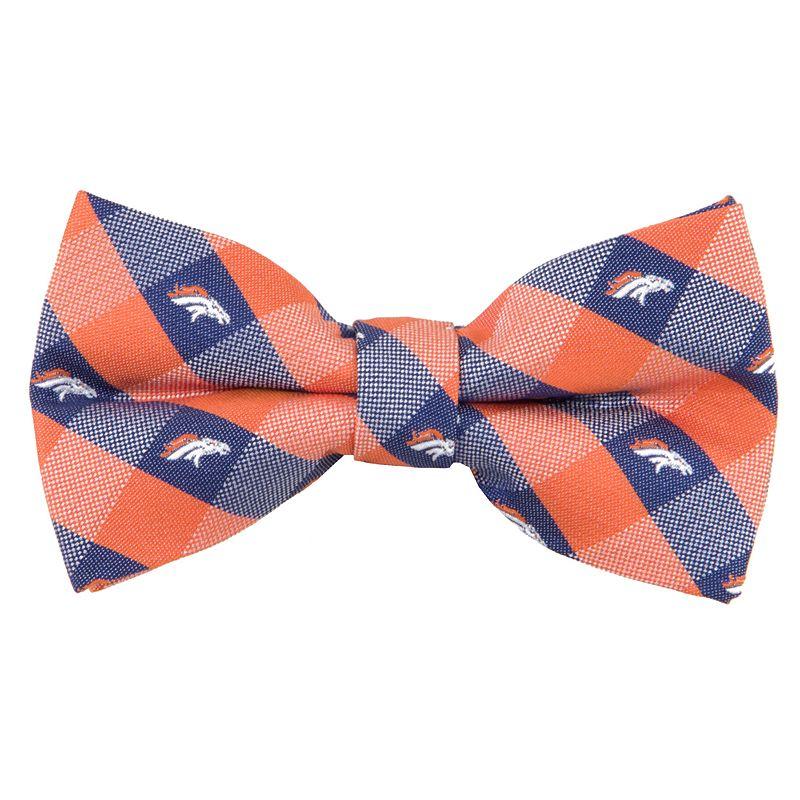 Adult Denver Broncos Check Woven Bow Tie, Orange