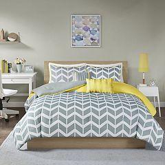 Intelligent Design Peyton Bed Set Purple Yellow Teal