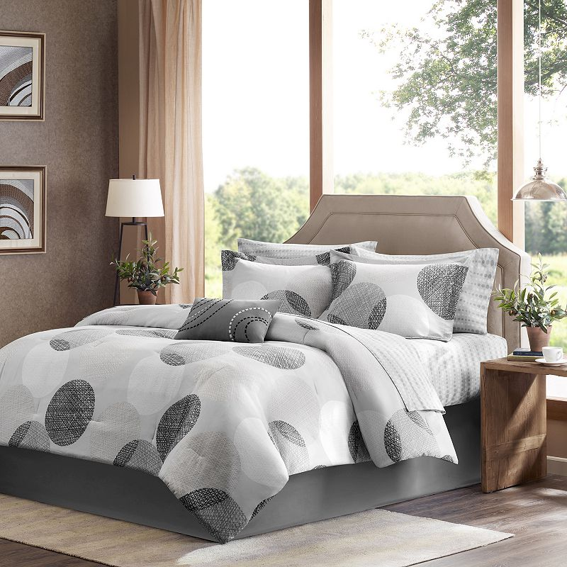 Madison Park Essentials Glendale Bed Set (Grey)