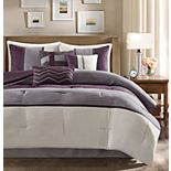 Madison Park Hanover 7-pc. Faux Suede Comforter Set