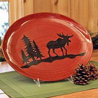 DEI Woodland River Moose Serving Plate