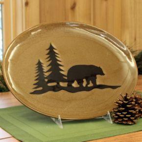 DEI Woodland River Bear Serving Plate
