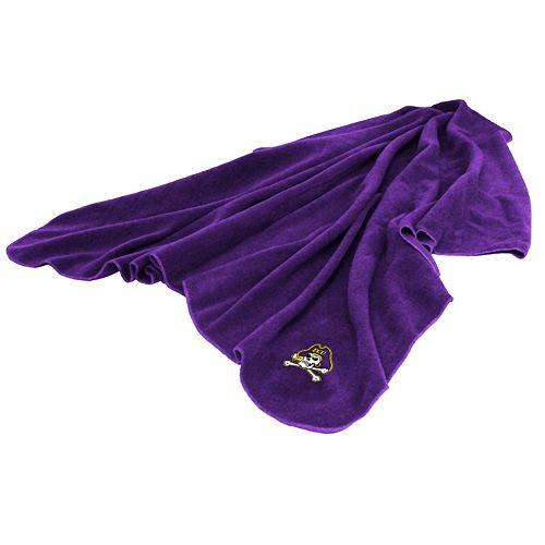 Logo Brand East Carolina Pirates Fleece Throw Blanket