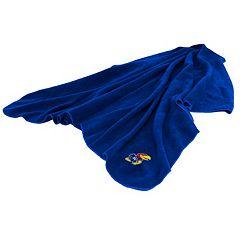 Logo Brand Kansas Jayhawks Fleece Throw Blanket