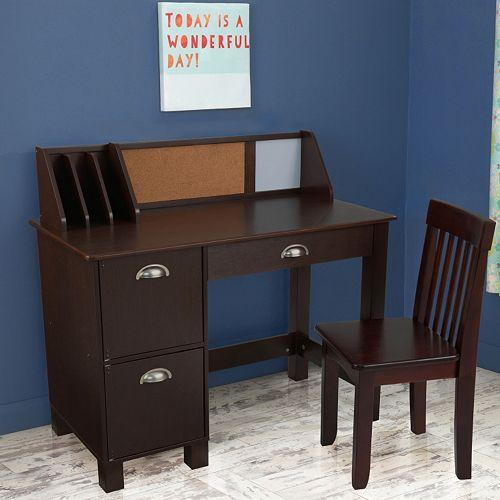 kidkraft study desk chair set. Black Bedroom Furniture Sets. Home Design Ideas