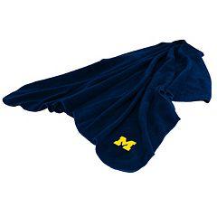 Logo Brand Michigan Wolverines Fleece Throw Blanket
