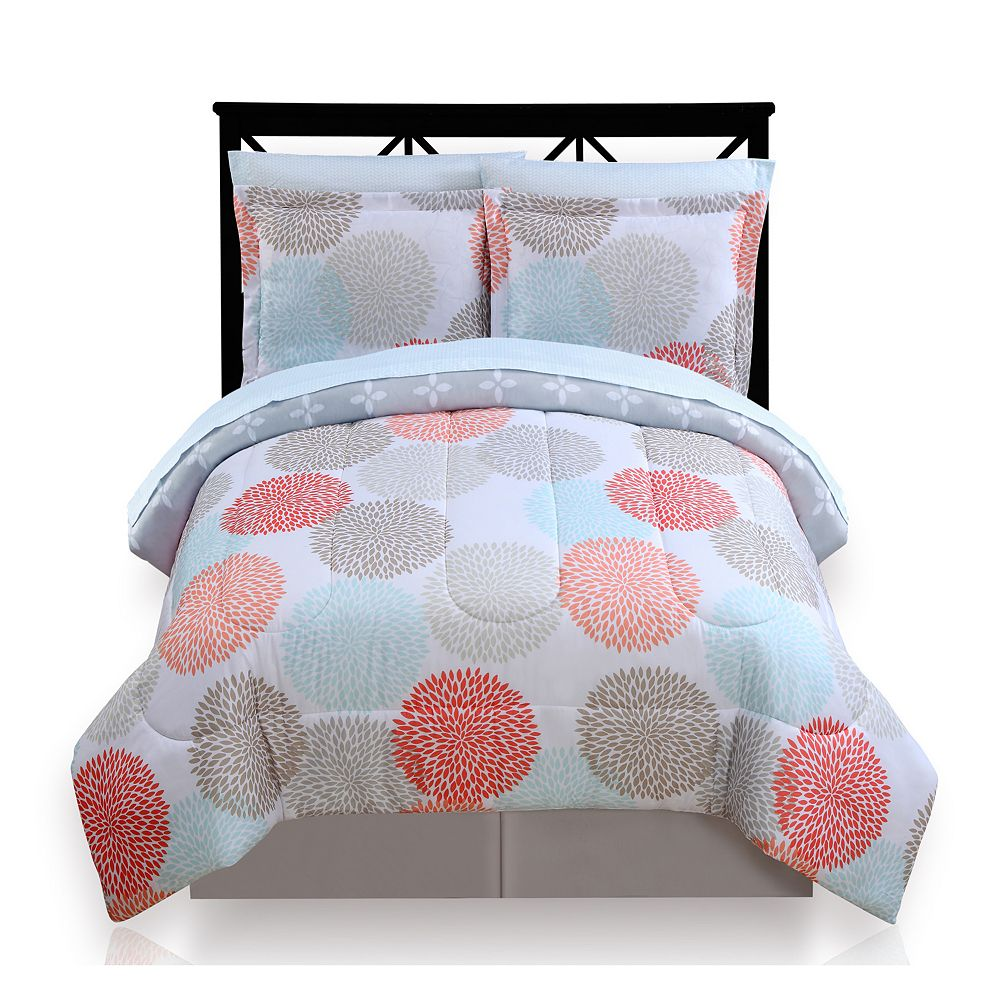 Bed sheets for teenagers - The Big One Dahlia Dot Reversible Bed In A Bag Set