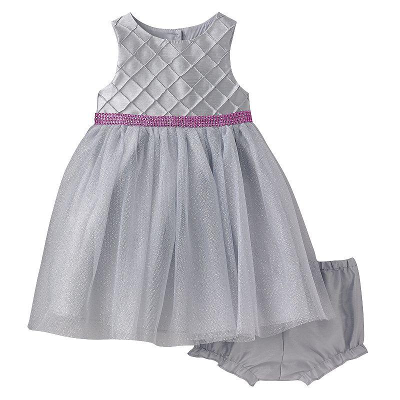 Marmellata Classics Sparkle Window Pane Tulle Dress - Baby