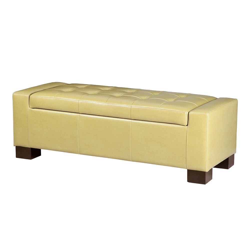 Tremendous Madison Park Mirage Citron Tufted Storage Ottoman Ncnpc Chair Design For Home Ncnpcorg