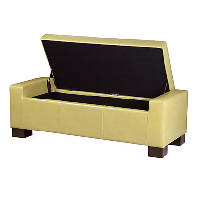 Madison Park Mirage Citron Tufted Storage Ottoman