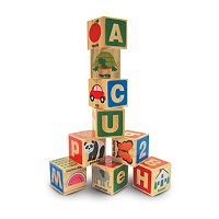 Melissa & Doug 26 pc ABC / 123 Wooden Block Set