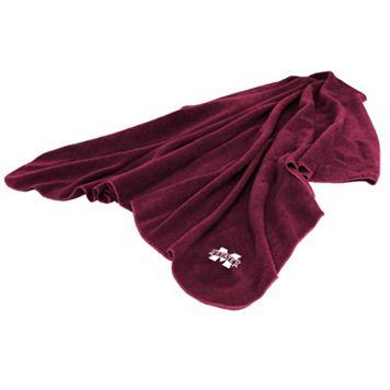 Logo Brand Mississippi State Bulldogs Fleece Throw Blanket