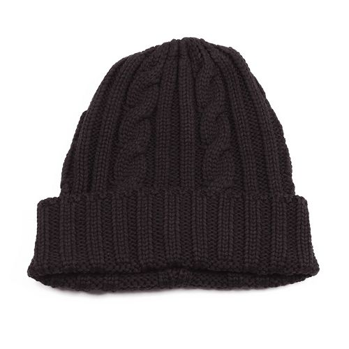 MUK LUKS Cable-Knit Cuff Beanie - Men