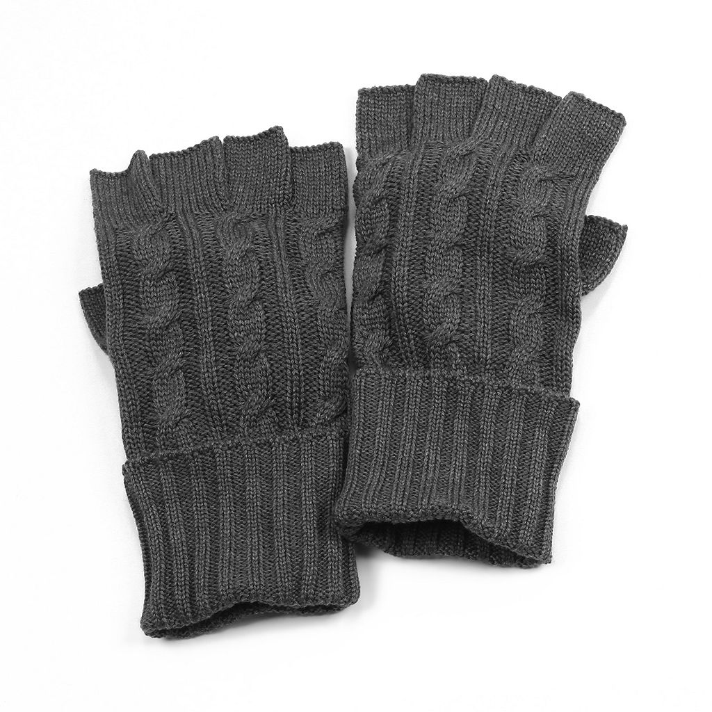 MUK LUKS Cable-Knit Gloves - Men