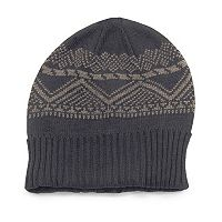 MUK LUKS Patterned Fleece-Lined Cuff Beanie - Men