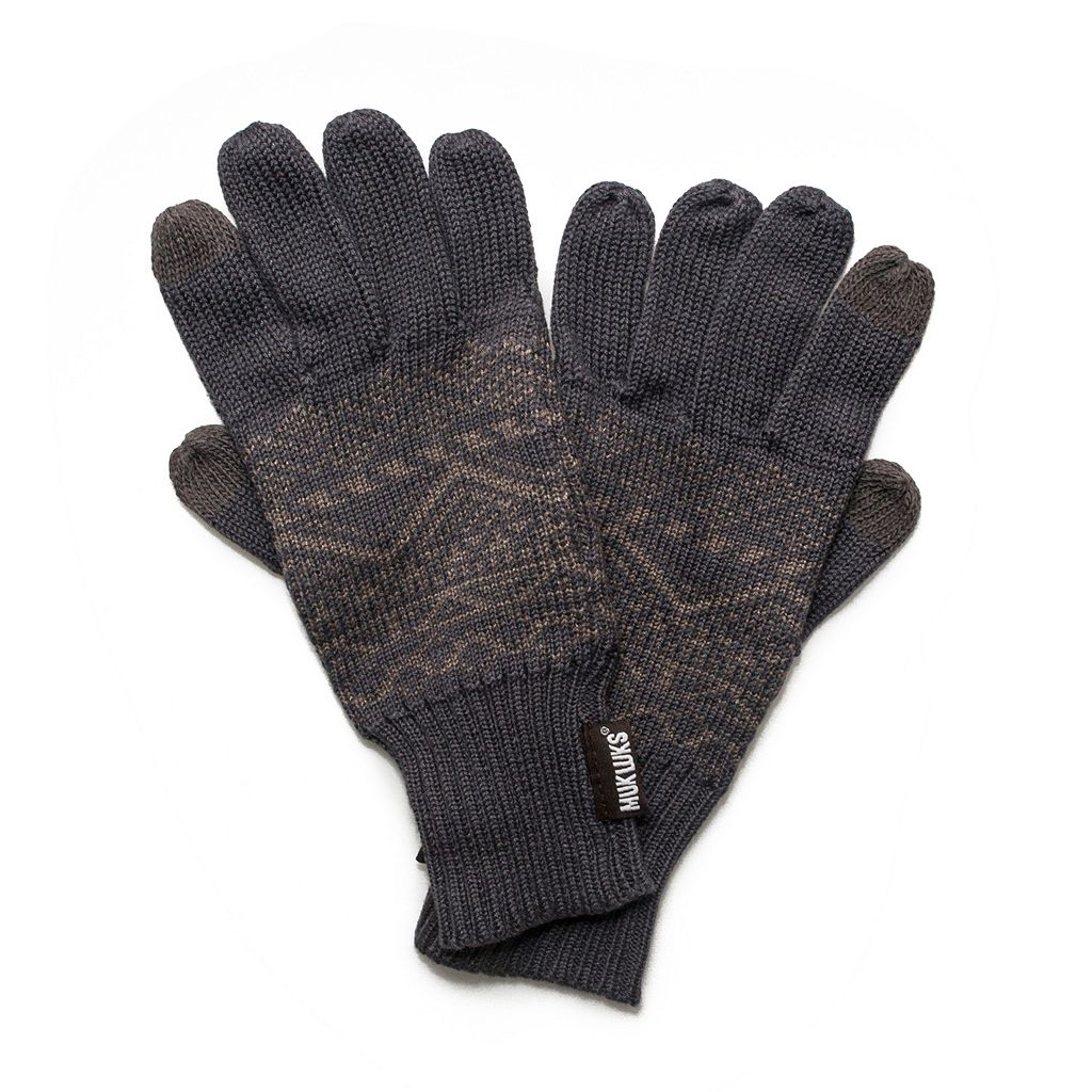 Men's Patterned Gloves with Texting Thumb and Fingers
