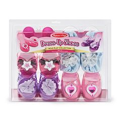 Melissa & Doug 4 pkDress-Up Shoes Role Play Set
