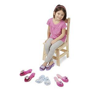 Melissa and Doug 4-pk. Dress-Up Shoes Role Play Set