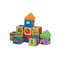 Melissa & Doug 14 pc Match & Build Block Set