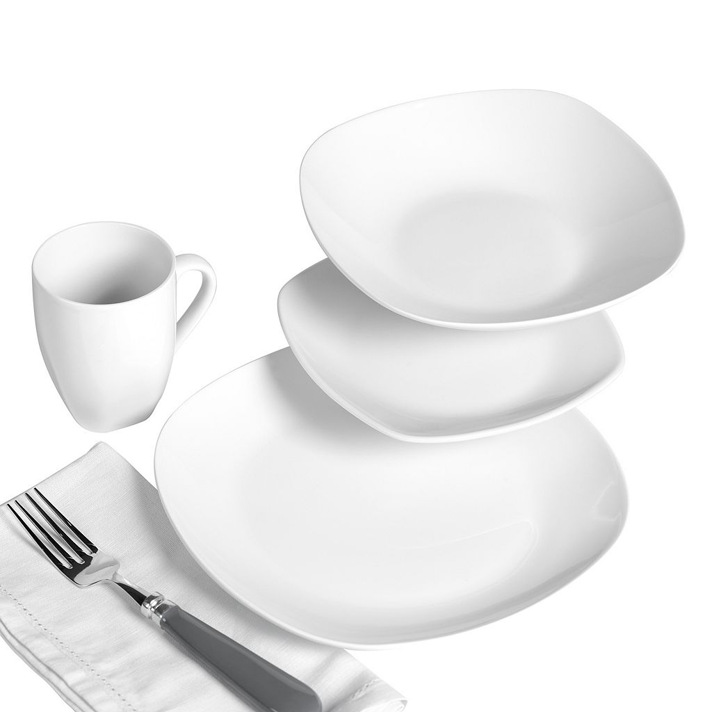 Tabletops Gallery Quinto Soft 16-pc. Square Dinnerware Set