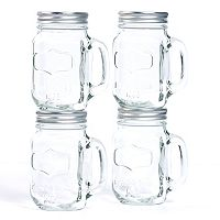 Tabletops Gallery 4-pc. Mason Jar Mug Set