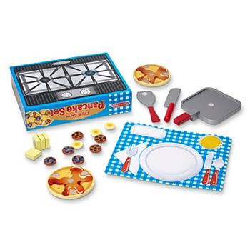 Melissa and Doug Wooden Flip and Serve Pancake Play Food Set