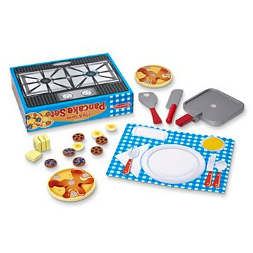 Melissa & Doug Wooden Flip & Serve Pancake Play Food Set