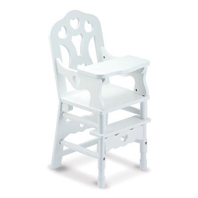 Melissa and Doug Wooden Doll High Chair