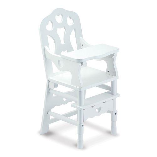 Melissa Doug Wooden Doll High Chair