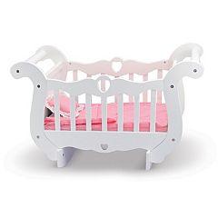 Melissa & Doug Wooden Doll Crib by