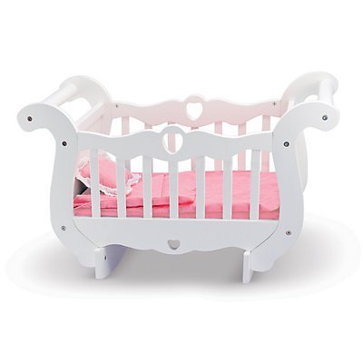 Melissa and Doug Wooden Doll Crib