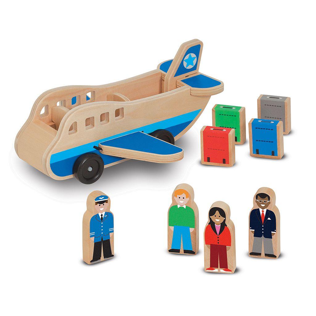 Melissa & Doug Wooden Airplane Play Set